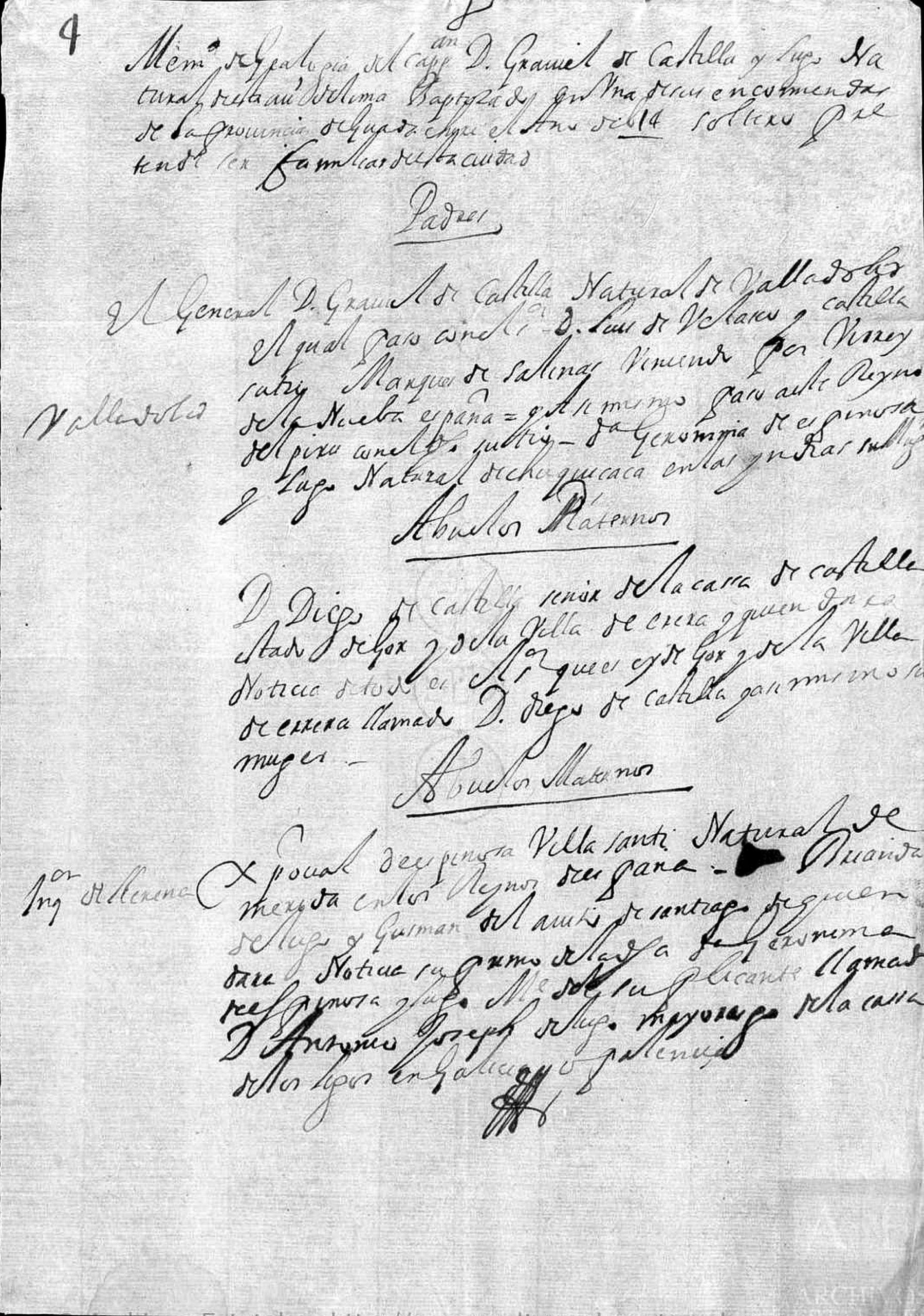 documento antigüo